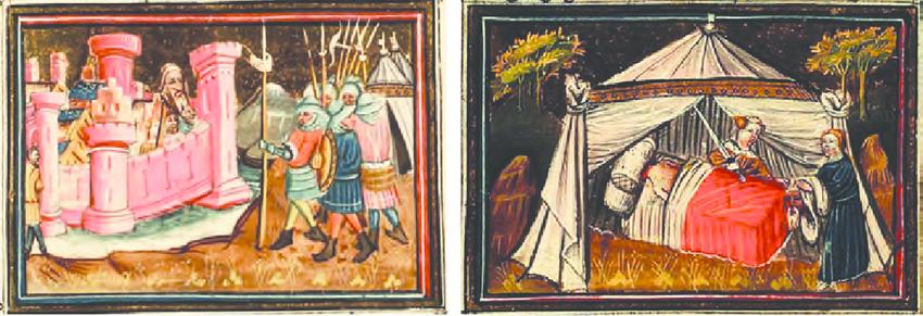 cabeza-de-Holofernes-colgada-en-el-muro-de-betulia-y-Judit-decapita-a-Holofernes